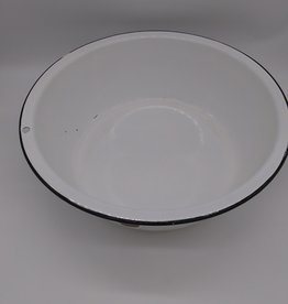 """Lisk-Savoy Flintstone Porcelain Enameled Ware Wash Basin 17 x 5 3/8"""""""