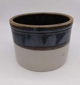 """Two-Toned Butter Crock 7 3/8"""""""