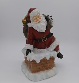 Santa in Chimney Porch Hanger 12""
