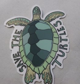 Save the Turtles Sticker 2x3