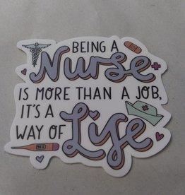 Being a Nurse Sticker