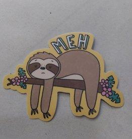 Meh...Sloth Sticker