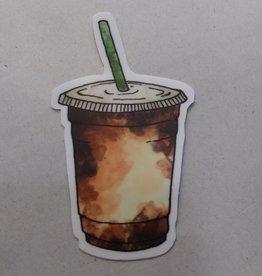 Iced Coffee Sticker 1.5x3