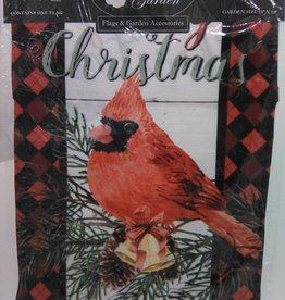Plaid & Cardinal Merry Christmas Garden Flag