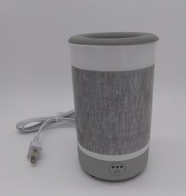 Happy Wax Signature Gray Linen Wax Warmer 7""