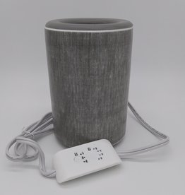Happy Wax The Mod Gray Linen Wax Warmer 6.5""