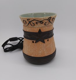 A Cheerful Giver Country Star 2pc Ceramic Wax Melter