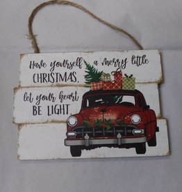 Have Yourself a Merry Little Christmas/Let Your Heart Be Light Sign 7x5