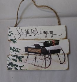 Sleigh Bells Ringing Sign 7x5