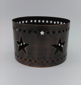 Copper Star Candle Sleeve 4""