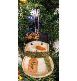 Hope Snowman Ornament (Felt)