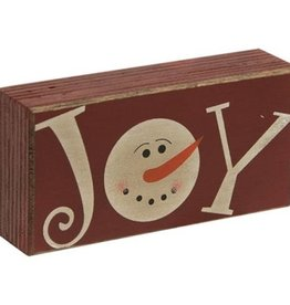 Joy Snowman Shelf Sitter 4x2