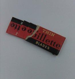 3 Gillette Razor Blades in Original Box, box ripped