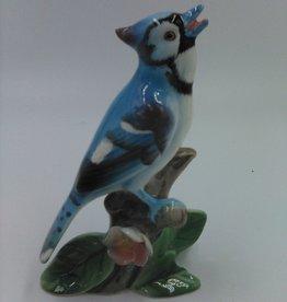 "Napco Ceramic Blue Jay Figurine 4.25"""