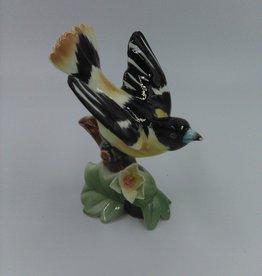 "Vintage Napco Baltimore Oriole Bird Figurine S 857 3 7/8"" missing Napco sticker"