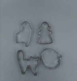 Vintage Halloween Cookie Cutters (Set of 4)