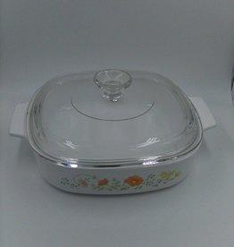 Vintage Corningware 1.4L Casserole Dish w/Pyrex lid