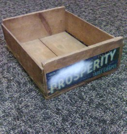 """Vintage Prosperity Table Grapes Crate 1960's,  17.5x14x6.5"""""""