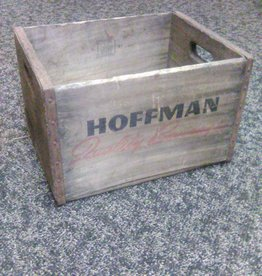 "Vintage Hoffman Quality Beverages Crate 16x12.5x10"""