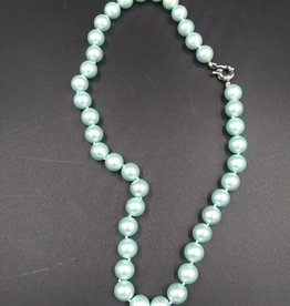 """Pale Green Cultured Pearl Necklace 17"""""""