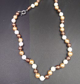 """Shades of Brown Elegance Freshwater Pearl Necklace 18"""""""