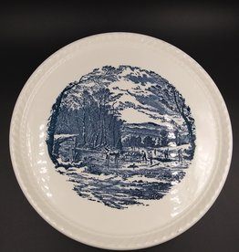 """Vintage Currier & Ives Plate by Royal China Co. 10.5"""" 1950-70"""