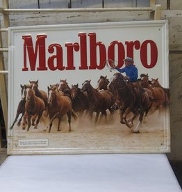Vintage Marlboro Metal Sign, 1984, 21.5x17.5""