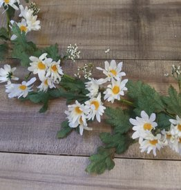 White Daisy Garland w/ Bubble Berries 48""