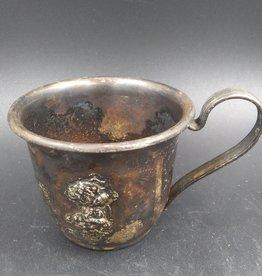 Vintage Silandia 820 Denmark Silver Baby Cup w/Puppy 75g
