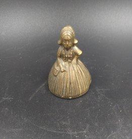 """Miniature Woman Brass Bell 2"""""""
