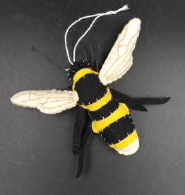Felt Bumble Bee Ornament 5.25""