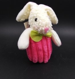 Beanbag Rabbit Ornament Pink 4.5""