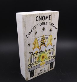 "Gnome Sweet Honey Gnome Shelf Sitter 2x4x6"""