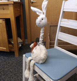 "Seated Fabric Bunny w/Telescoping Neck 21""(fully ext)"