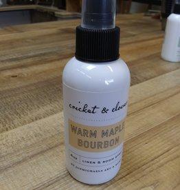 Cricket & Clover Cricket & Clover Warm Maple Bourbon Linen & Room Spray 4oz