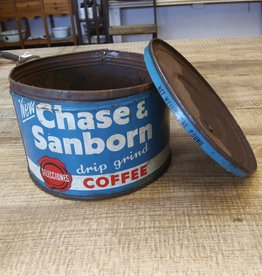 Chase and Sanborn Coffee Tin and Lid 1lb, 1940-50's