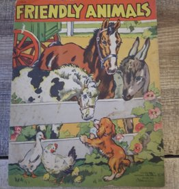Friendly Animals (linen finish book) 1941