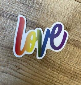"Rainbow "" LOVE "" sticker"