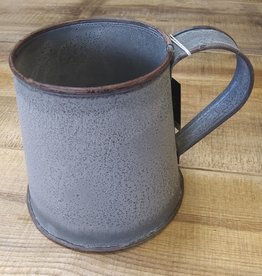 Irvin's Tinware Weathered Zinc Tin Mug 5.25""