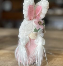 Easter Gnome Pink Body/ Flowers/ White Hat/Ears