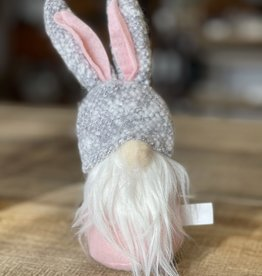 Easter Gnome,  Pink Body, Gray Hat/Ears 8""