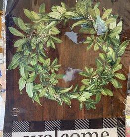 Briarwood Lane 12 x 18 Garden Flag: Farmhouse Welcome with Wreath