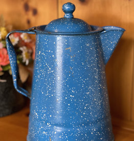 "10.5"" Vintage Enamel Coffee Pot"