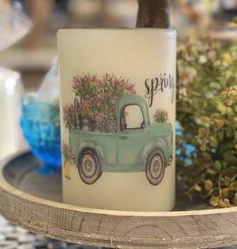 "Lasting Lite Lasting Lite 6"" Spring Truck w/Tulips"