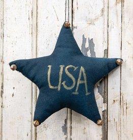 Navy USA Star with Jingle Bells