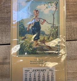 Syracuse Herald Journal 1940 Calendar, Syracuse, NY