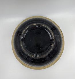 """Vintage Stoneware Bowl - Brown 8"""""""