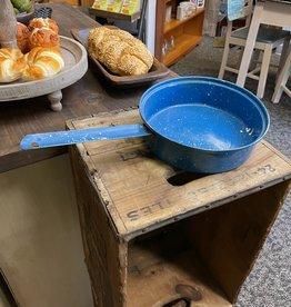 """Vintage  Blue Speckled Deep Pan- 8"""""""