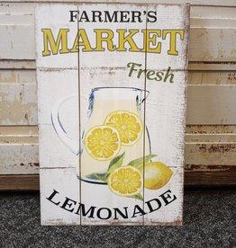 Farmer's Market Fresh Lemonade Sign 15.75x23.5