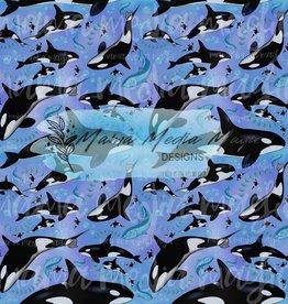 Mama Media Magic Designs Orca Whale Mama Media Magic Seamless Design